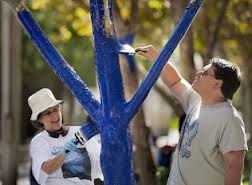 blue tree volunteers